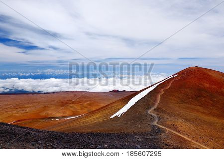 The Summit Of Mauna Kea, A Dormant Volcano On The Island Of Hawaii, Usa