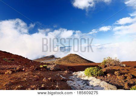 Stunning Landscape Of Haleakala Volcano Area Taken From The Summit, Maui, Hawaii