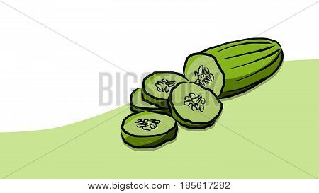 Colored Cuke Vector Card
