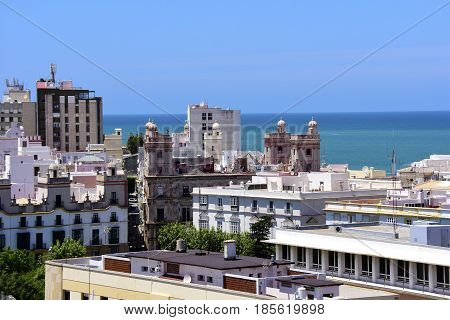 View of the city of Cadiz Spain.