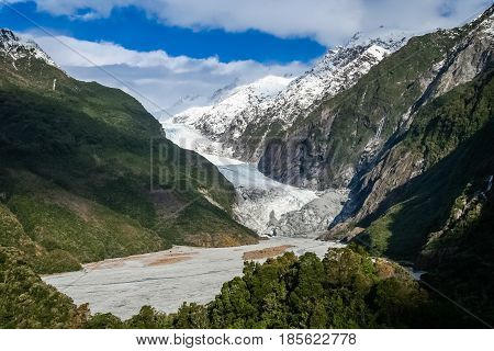 Franz Joseph glacier in South Island New Zealand