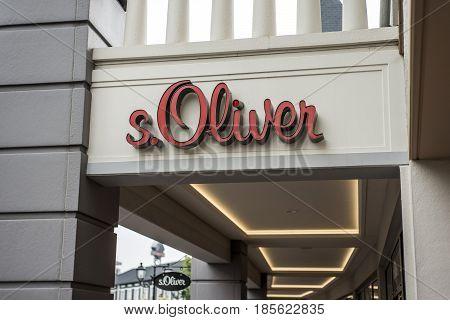Roermond, Netherlands 07.05.2017 - Logo of S.Oliver Store in the Mc Arthur Glen Designer Outlet shopping area