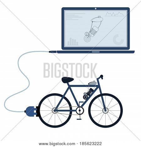Electric Bicycle Automation Using Laptop
