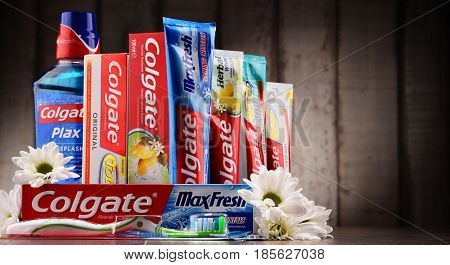 Composition With Colgate Products