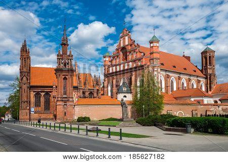 Ensemble Of St Anne And Bernardine Church At Spring. Vilnius, Lithuania.