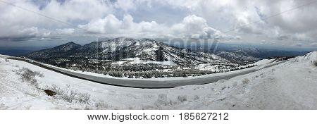 Panorama of the Zao mountain range on the island of Honshu