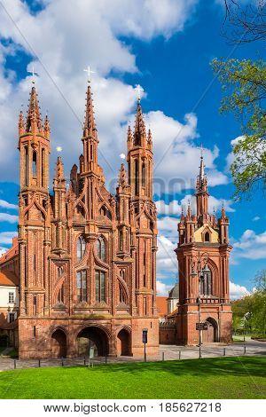 Ensemble Of St Anne And Bernardine Church. Vilnius, Lithuania.