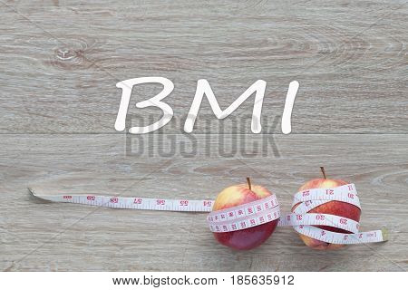 Concept BMI body mass index formula rate formula fitness and weight loss.