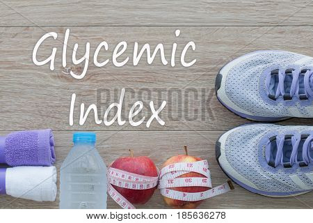 Concept Glycemic Index and against healthy. food