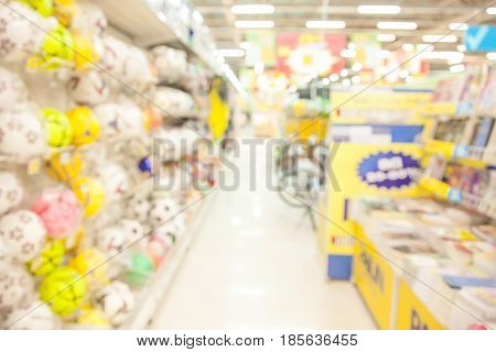 Shopping mall blurred with bokeh background. business concept