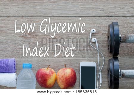 Concept Low Glycemic Index Diet and against healthy.