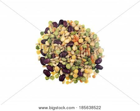 Mix of legume and grain (split peas pearl barley red kidney beans red lentils dehydrated vegetables) for Minestrone Soup