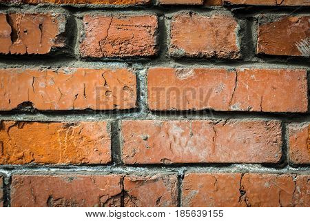 An old brick wall. Obstacles and misunderstandings.