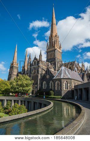 Saint Patrick cathedral the biggest church in Melbourne, Australia.