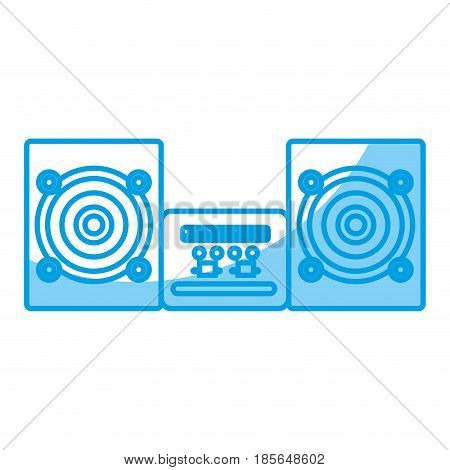 boombox stereo icon over white background. vector illustration