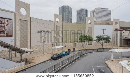 OKINAWA JAPAN - April 19 2017: T Galleria By DFS in Okinawa japan .T Galleria Okinawa is part of DFS Group Limited the world's leading luxury retailer catering to the traveling public.