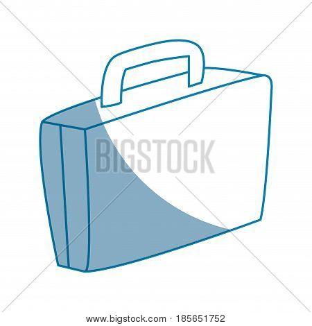 suitcase luggage equipment journey desing line vector illustration