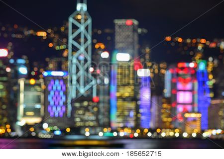 Blurred Of Cityscape At Night