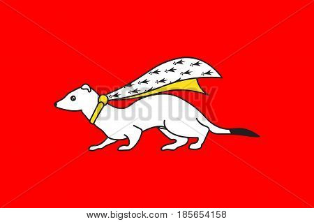 Flag of Vannes is a commune in the Morbihan department in Brittany in north-western France. Vector illustration