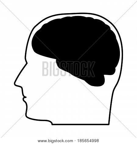 Head With The Brain Black Icon.