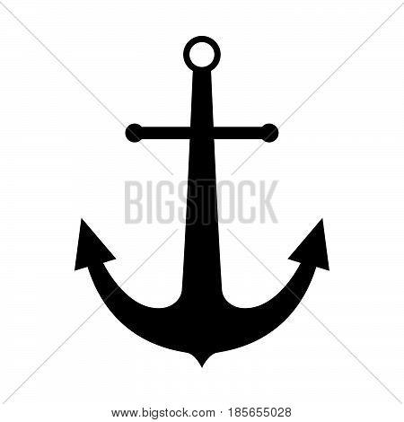 Marine Anchor The Black Color Icon.