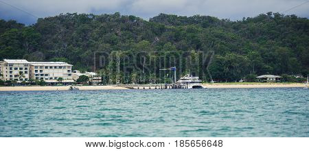 Queensland, Australia - March 23, 2017: View Of Tangalooma Island Resort In Moreton Island, Queensla