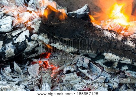 abstract background burning coals. texture . A photo