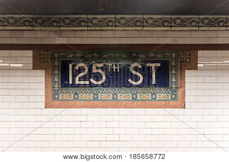125Th Street Subway Station - Nyc