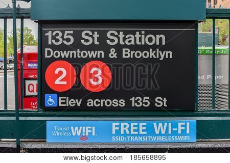 135Th Street Subway Station - Nyc