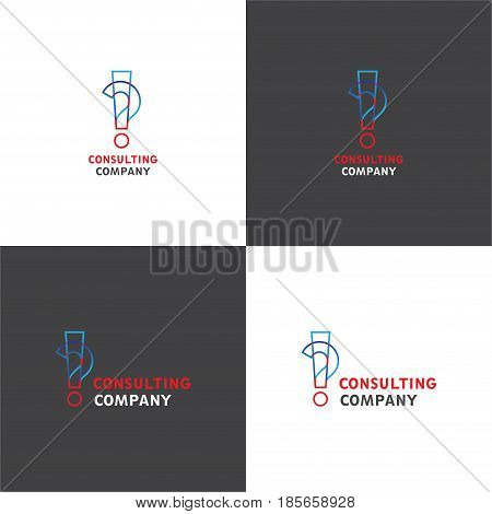 Vector eps logotype about consulting business company in eps 10 horizontal and vertical view