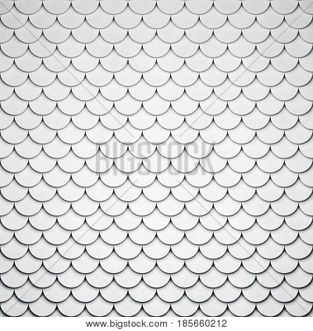 Volumetric shaped concrete pattern. Grey stone background. 3D rendering