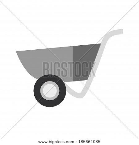 Construction wheelbarrow equipment icon vector illustration graphic design