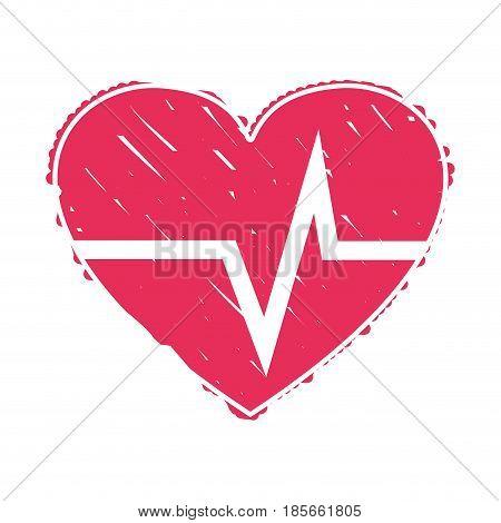 nice heartbeat to cardiac rhythm, vector illustration design poster