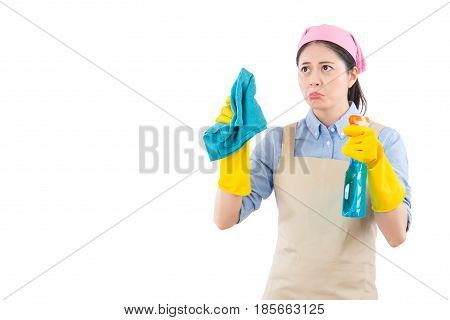 Woman Upset And Fed Up About Cleaning
