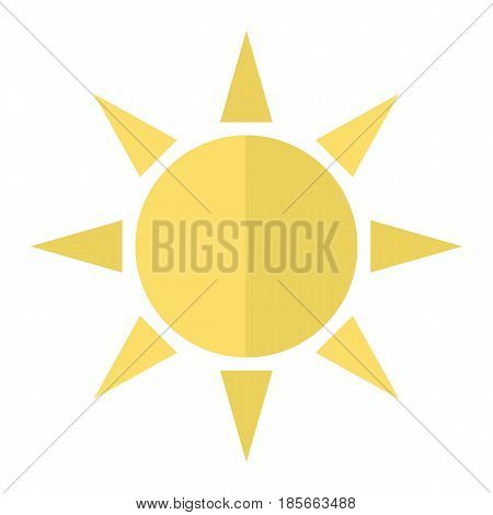 Sun flat icon, weather and sunshine, vector graphics, a colorful solid pattern on a white background, eps 10.