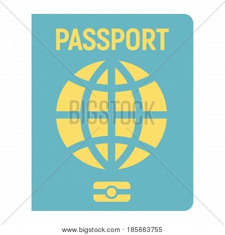 Passport flat icon, travel and citizenship element, vector graphics, a colorful solid pattern on a white background, eps 10.