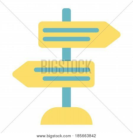 Signpost flat icon, navigation and direction, arrows vector graphics, a colorful solid pattern on a white background, eps 10.