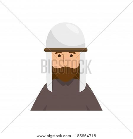 jesus christ man icon over white background. vector illustration