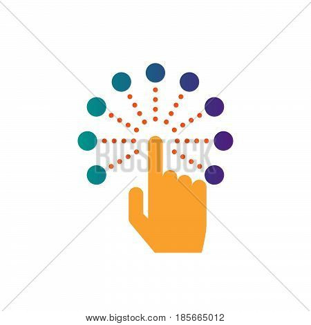 interactive touch screen interface icon vector solid logo illustration pictogram isolated on white