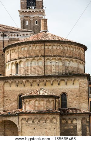 The Baptistery of Cathedral of Assumption of Mary of Padua. Italy