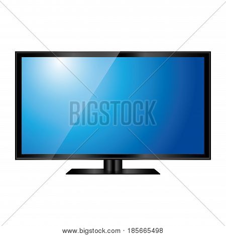modern television icon over white background. colorful design. vector illustration