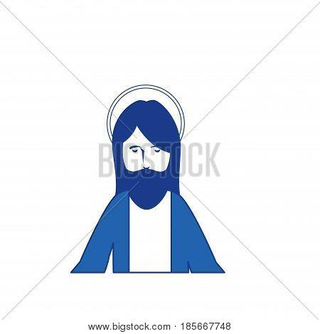 jesus christ man icon over white background. colorful design. vector illustration