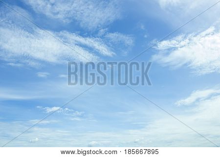 clouds in the blue sky on background.