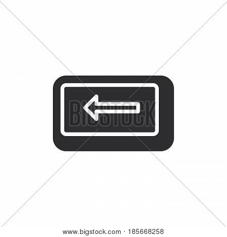 Backspace key icon vector filled flat sign solid pictogram isolated on white. Symbol logo illustration. Pixel perfect