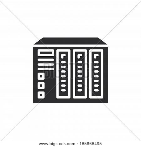 NAS server icon vector filled flat sign solid pictogram isolated on white. Symbol logo illustration. Pixel perfect