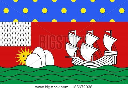 Flag of Lorient is a commune and a seaport in the Morbihan department in Brittany in north-western France