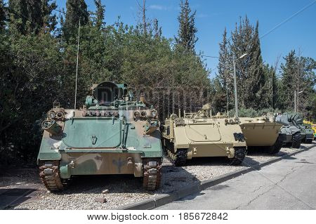 Old Armored Personnel Carriers At Latrun Armored Corps Museum