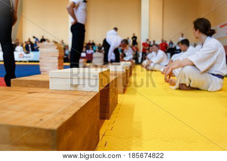 The Martial Artists Preparing For The Competition
