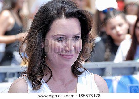 Giffoni Valle Piana Sa Italy - July 21 2016 : Sabina Guzzanti at Giffoni Film Festival 2016 - on July 21 2016 in Giffoni Valle Piana Italy