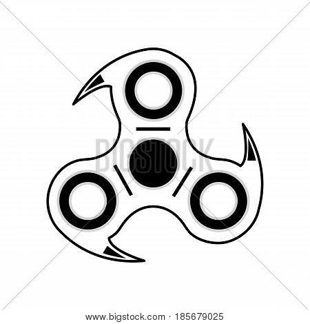 Fidget hand spinner illustration vector, white backround